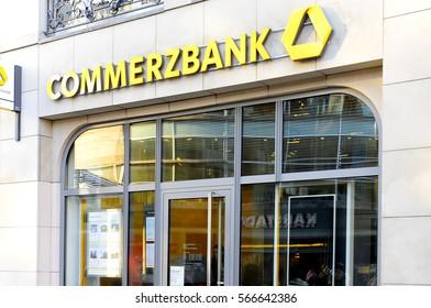 WIESBADEN,GERMANY-JAN 26: COMMERZBANK on January 26,2017 in Wiesbaden,Germany.
