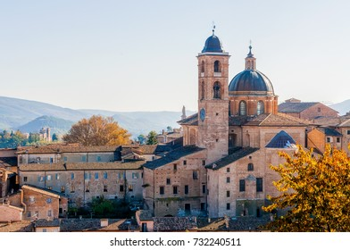 Wiew of the Cathedral of Urbino, in Italy