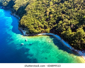 Wiew at Coast near Budva, Montenegro from air
