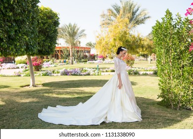 wife in perfect wedding dress. wedding fashion for pretty wife. cute wife outdoor. wife woman on bridal ceremony. love is in the air