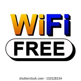 Wifi Free Zone Icon Isolated on White Background