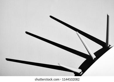 WiFi / Wireless router technology equipment  - Black & White photo.