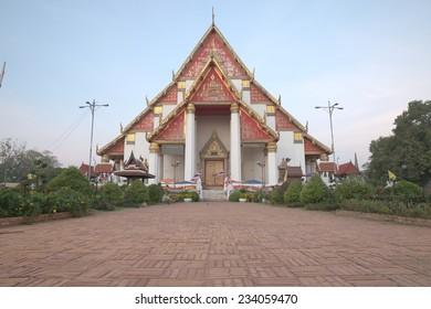 Wihan Mongkhon Bophit at Ayutthaya province of Thailand