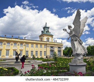 Wilanow royal palace, historical architecture of Warsaw