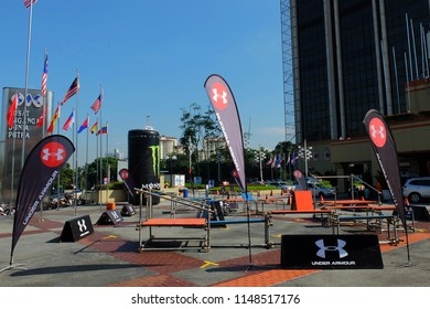 Wilayah Persekutuan,Kuala Lumpur/Malaysia - August 3 2018 - MisFIT-MALAYSIA INTERNATIONAL SPORTS FITNESS FAIR, Under Armour Join the event fitness