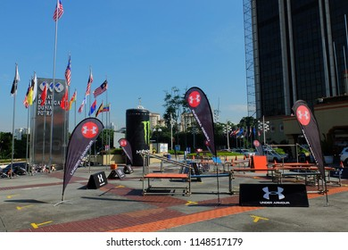 Wilayah Persekutuan,Kuala Lumpur/Malaysia - August 3 2018 - MisFIT-MALAYSIA INTERNATIONAL SPORTS FITNESS FAIR, Under Armour Join the event fitness