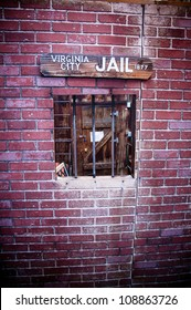Wild american west old style jail window