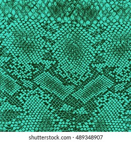 Wild animal body skin pattern, green color