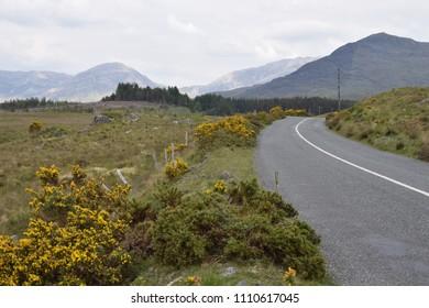 Wild atlantic way near recess, near Galway, ireland