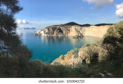 Wild bay in Italian islands