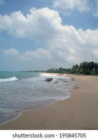 wild beach on Sri lanka coast