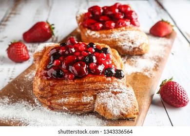 Wild berry puff pastry cake.