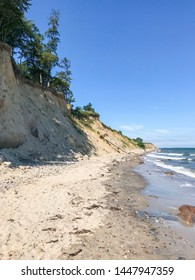 Wild cliffs beach at Baltic Sea Germany