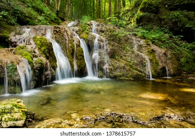 Wild creek in Bela krajina, southeastern Slovenia. - Shutterstock ID 1378615757