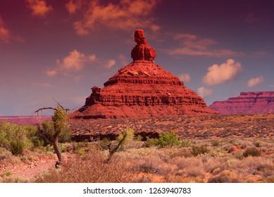 Wild desert landscape in Valley of the Gods in Utah, USA