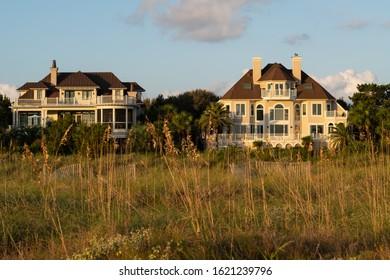 Wild Dunes Resort, South Carolina, USA - September 28, 2019.  Luxury ocean view luxury houses at Wild Dunes Resort, Isle of Palms, South Carolina.