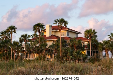 Wild Dunes Resort, South Carolina, USA - September 28, 2019.  Luxury ocean view luxury house in the morning light at Wild Dunes Resort, Isle of Palms, South Carolina.