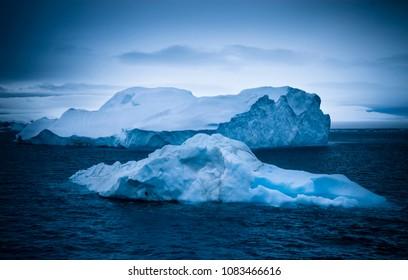Wild frozen landscape, Antarctica