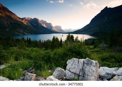 Wild goose island. Glacier National Park