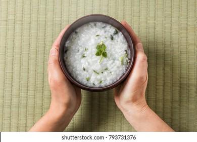 Wild grass porridge Japanese food