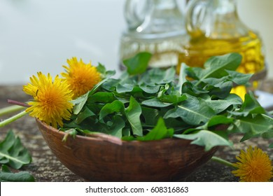Wild herb salad with dandelions