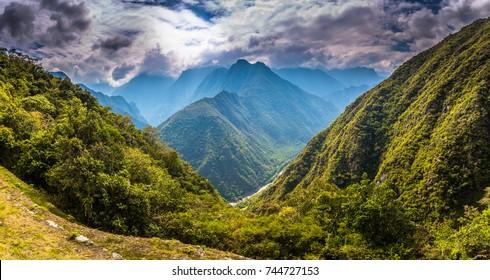 Wild landscape of the Inca Trail, Peru
