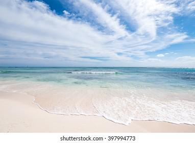 wild luxury beach near playa del carmen, Mexico