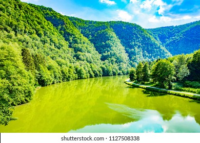 The wild Meuse valley in French Ardennes, Les Dames de Meuse, Grand Est, Champagne-Ardenne, France