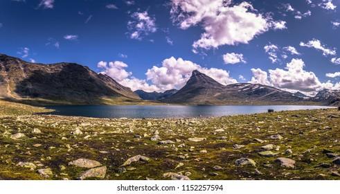 Wild mountain landscape in the Jotunheimen National Park, Norway