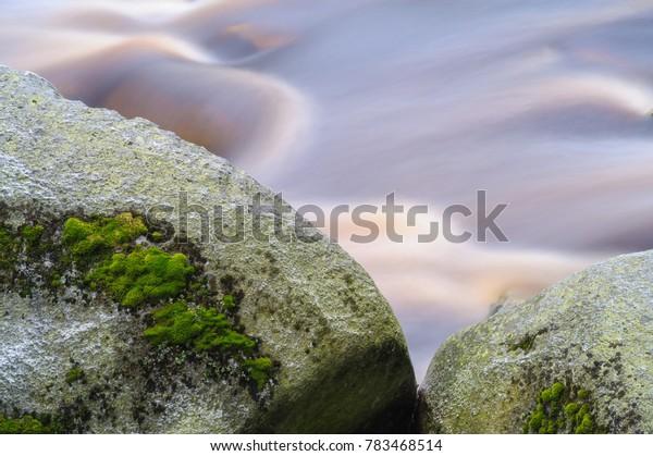 wild mountain river Vydra, Sumava, Czech Republic