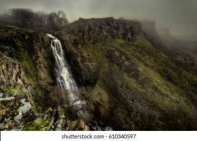 Wild and mysterious Columbia River Gorge on a foggy and misty Saturday morning... edit to reflect  minds eye