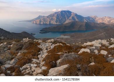 Wild nothern part of Karpathos island, Avlona-Tristomo hiking trail,Greece