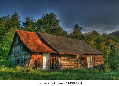 In the wild, nothing heard no one seen. High dynamic range imaging. Kamionka the picture of Polish countryside.