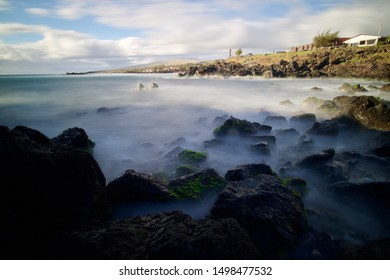 wild ocean of Easter Island