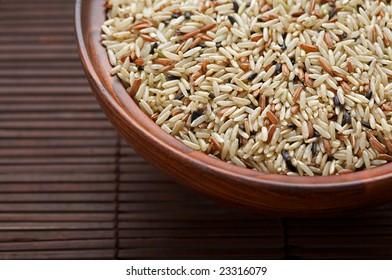 Wild rice in bowls