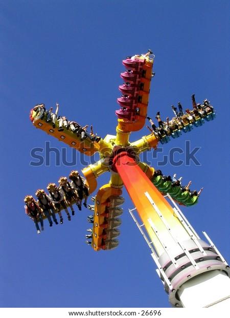 Wild ride at a fun fair