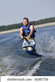 Wild ride on a kneeboard