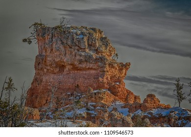 Wild rock formation in Bryce Canyon national park Utah.