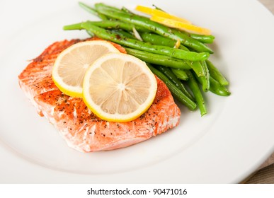 Wild Salmon with Green Beans