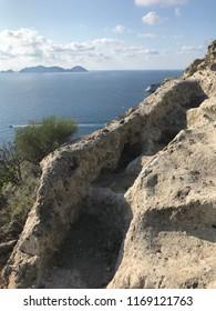 Wild steps on the island
