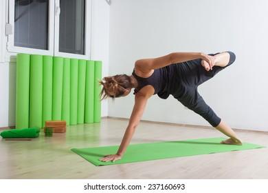Wild thing variation yoga pose