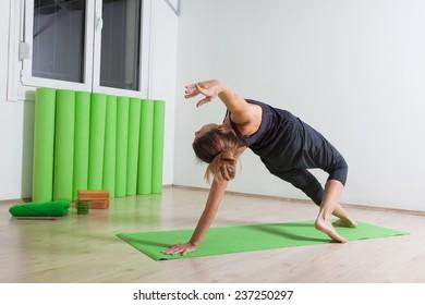 Wild thing yoga pose