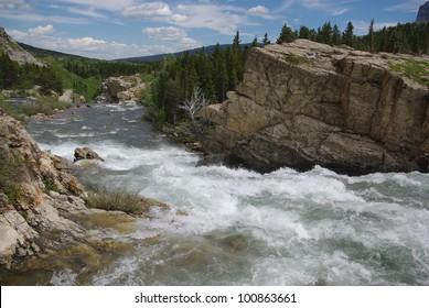 Wild waters and rocks, Glacier National Park, Montana