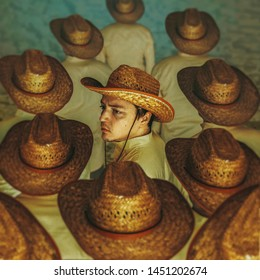 Wild west cowboy in a hat