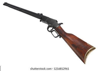 Wild west repeating rifle isolated on white background