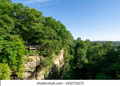 wildcat canyon overlook in late spring/early summer, starved rock state park, north central Illinois.