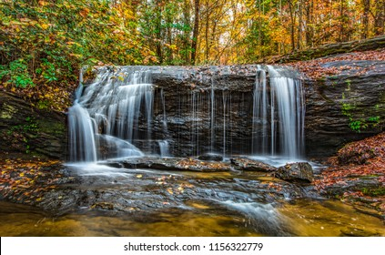 Wildcat Falls near Table Rock State Park in Greenville, South Carolina, USA.