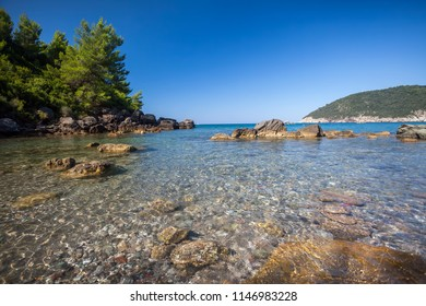 Wilde beach on cape Kricevac in Montenegro