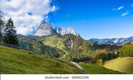 Wilder Kaiser mountain range in autumn 2020 - Shutterstock ID 1830621296