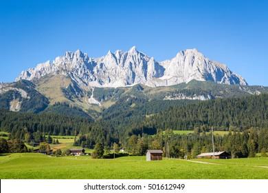 Wilder Kaiser mountains in summer  at tyrol, Austria